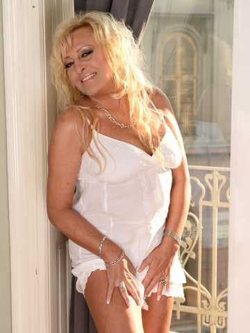 Blonde Grandma Gets A Cockload, Scene #01