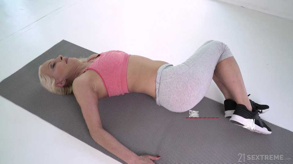 Granny In Yoga Pants